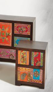 Jewellery Chest~Hand Painted Mango Wood 3 Drawer Chest~STC14 Fair Trade Folio